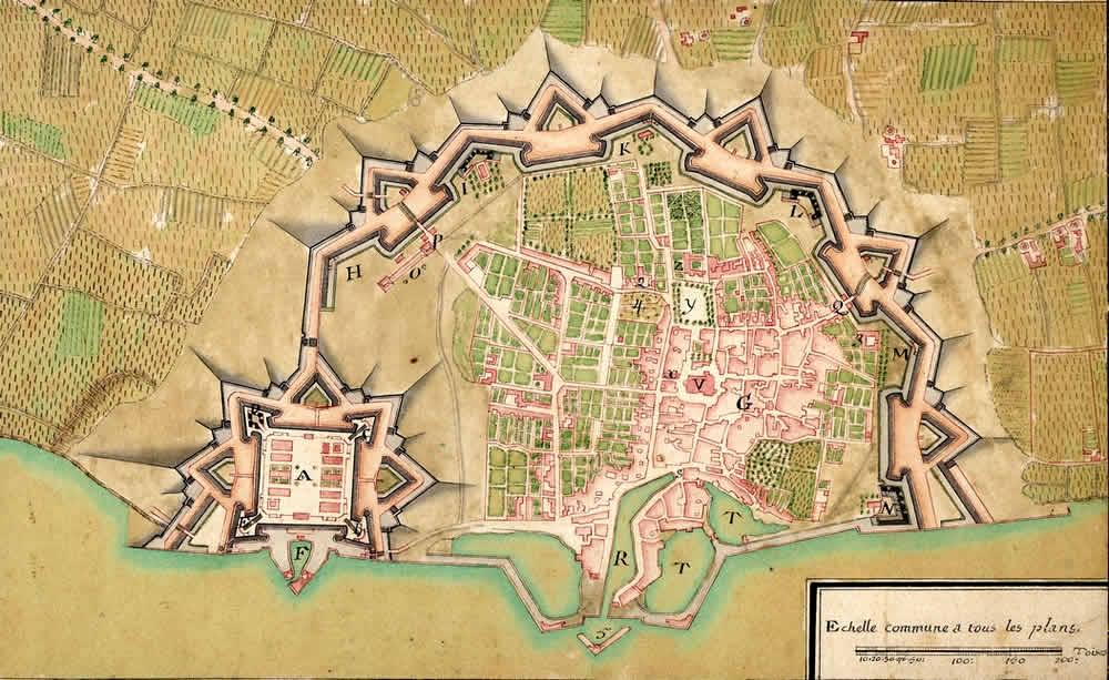 plan des fortifications de saint martin de ré