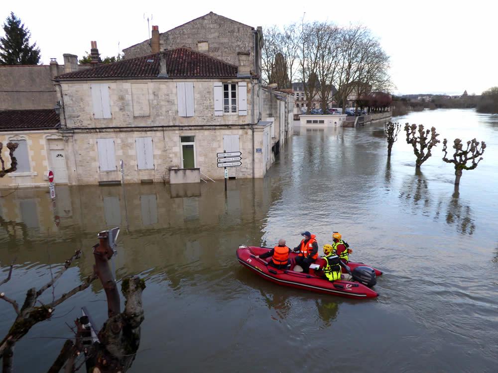 inondations à saintes